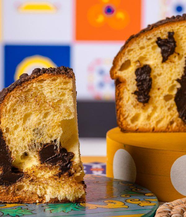 Panettone siciliano con crema al Cioccolato di Modica