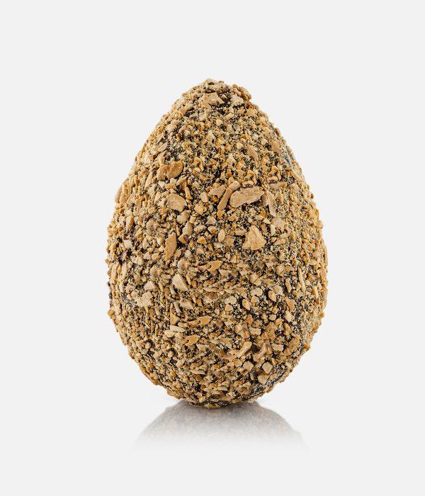 Uovo di Cioccolato Fondente ricoperto di Mandorle Granulate 0.50 Kg