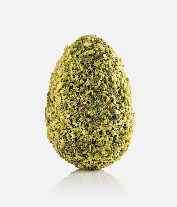 Uovo di Cioccolato finissimo al Latte ricoperto di Pistacchio 0.50 Kg
